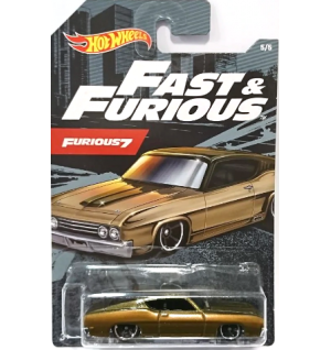 Hot Wheels Fast & Furious No 5 '69 Ford Torino Talladega