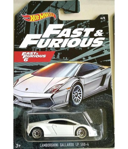 Hot Wheels Fast & Furious No 4 Lamborghini Gallardo LP560-4