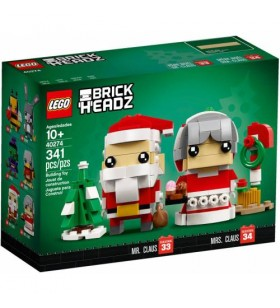 LEGO BRICK HEADZ 40274 Mr. Claus and Mrs. Claus