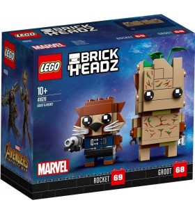 LEGO BRICK HEADZ 41626 Groot ve Rocket Guardians of the Galaxy