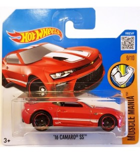 Hot Wheels 16 Camaro SS Musclemania 2017 Kirmizi