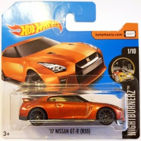 Hot Wheels 17 Nissan GT-R R35 Nightburnerz 2018 Turuncu