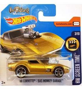 Hot Wheels 68 Corvette Gas Monkey  Screen Time 2017