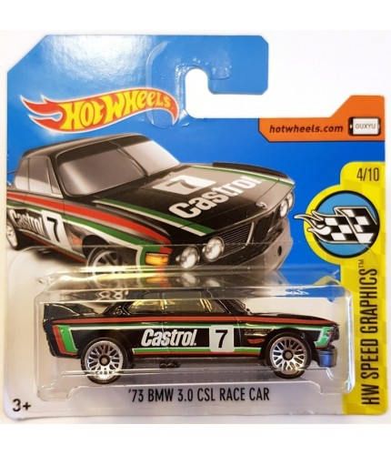 Hot Wheels 73 BMW 3.0 CLS Race Car HW Speed Graphics Siyah