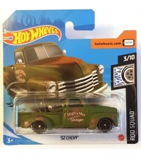 Hot Wheels 52 Chevy Rod Squad 2020 Haki Yeşil