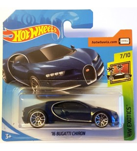 Hot Wheels 16 Bugatti Chiron HW Exotics Lacivert