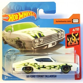 Hot Wheels 69 ford Torino Talladega HW Flames Beyaz