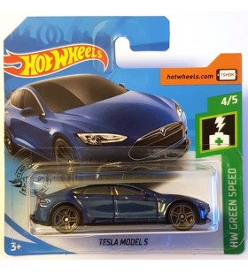 Hot Wheels Tesla Model S HW Green Speed