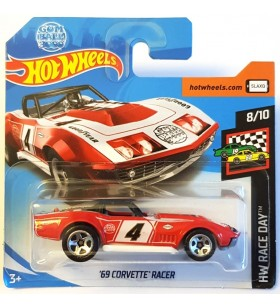 Hot Wheels 69 Corvette Racer HW Race Day Kırmızı