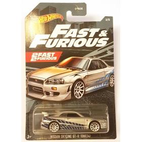 Hot Wheels Fast & Furious Seri 2 No 3 Nissan Skyline GT-R (BNR34)