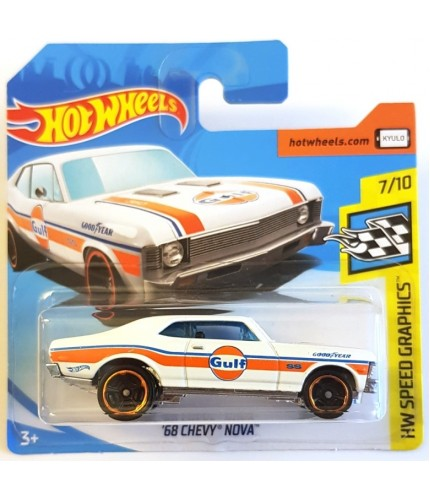 Hot Wheels 68 Chevy Nova HW Speed Graphics 2019