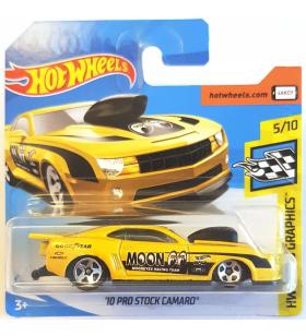Hot Wheels 10 Prostock Camaro 2018 Mooneyes Sarı