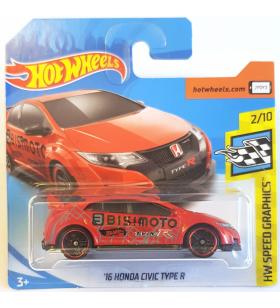Hot Wheels 16 Honda Civic Type-R 2018 Kırmızı