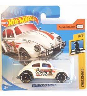 Hot Wheels Volkswagen Beetle Checkmate 2018 Beyaz