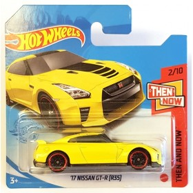 Hot Wheels 17 Nissan GT-R R35 Then and Now Sarı