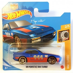 Hot Wheels 89 Porsche 944 Turbo HW Turbo - Mavi