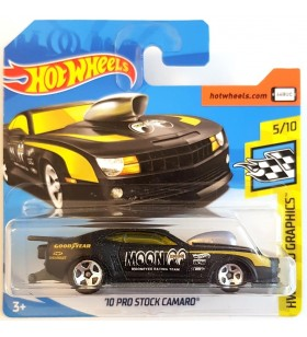 Hot Wheels 10 Prostock Camaro 2018 Mooneyes Siyah