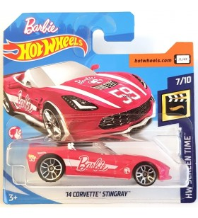 Hot Wheels 14 Corvette Stingray Barbie Screen Time 2018