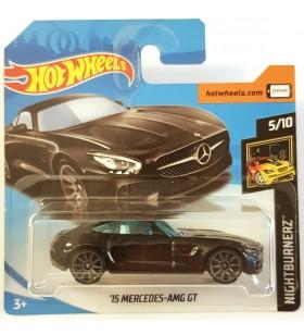 Hotwheels 15 Mercedes AMG GT Nightburners 2018 Siyah