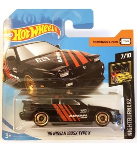 Hotwheels 96 Nissan 180 SX TYPE X Nightburners 2018