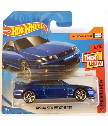 Hot Wheels Nissan Skyline GT-R R33 Then and Now 2018 Mavi