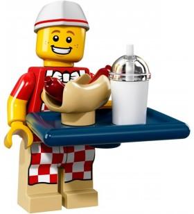LEGO Seri 17 71018 No:6 Hot Dog Vendor