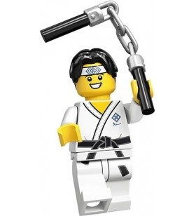 LEGO CMF Seri 20 71027 No:10 Martial Arts Boy Karate Kid