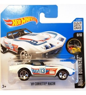 Hot Wheels 09 Corvette Racer Nightburnerz 2017 Beyaz