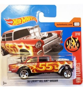 Hot Wheels 55 Chevy Bel Air Gasser HW Flames Kirmizi