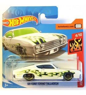 Hot Wheels 69 ford Torino Talladega HW Flames Beyaz