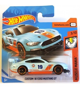 Hot Wheels Custom 18 Ford Mustang GT Muscle Mania Gulf