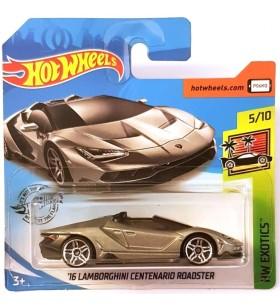 Hot Wheels 16 Lamborghini Centenario Roadster Exotics