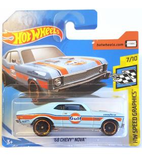 Hot Wheels 68 Chevy Nova HW Speed Graphics Gulf