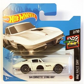 Hot Wheels 64 Corvette Stingray HW Race Day Beyaz