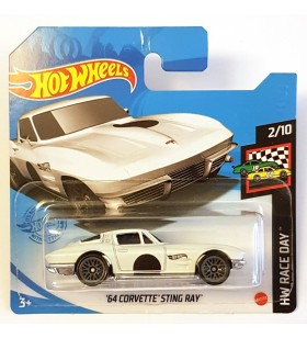 Hot Wheels 64 Corvette Stingray HW Race Day Beyaz