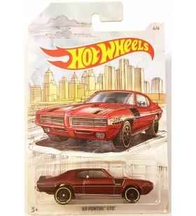 Hot Wheels 69 Pontiac GTO Skeç Araba Resimli