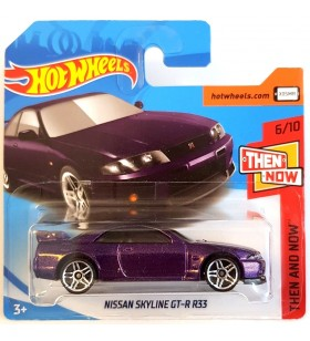 Hot Wheels Nissan Skyline GT-R R33 Then and Now 2018