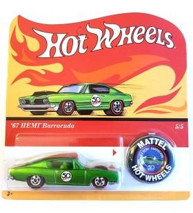 Hot Wheels 67 HEMI Barracuda 50th Aniv. Originals Redline